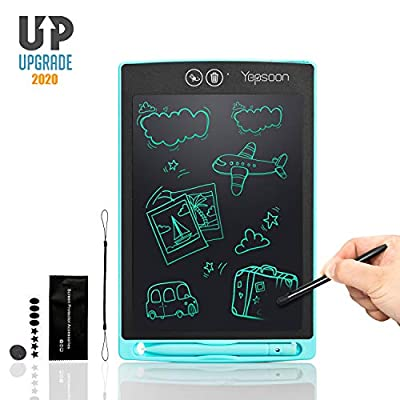 YEPSOON LCD Writing Tablet 8.5 inch Electronic Writing & Drawing Doodle Board?Full&Partial Dual Erase Mode,Lock Screen Function, Portable Reusable Magnetic Notepad, Gift for Kids, New Version of 2020 from YEPSOON