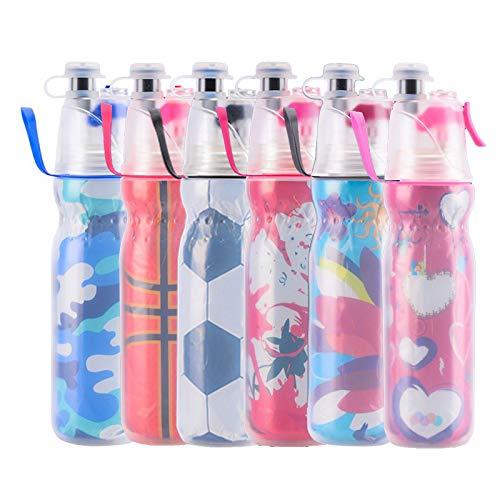 Borraccia spray per bambini, con nebulizzazione, portatile, senza BPA e a prova di perdite, per ciclismo, corsa, fitness, arrampicata, 590 ml