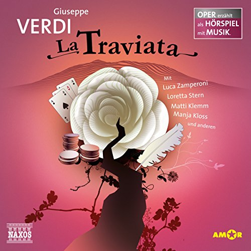 La Traviata     Oper erzählt als Hörspiel mit Musik              By:                                                                                                                                 Guiseppe Verdi                               Narrated by:                                                                                                                                 Luca Zamperoni,                                                                                        Loretta Stern,                                                                                        Matti Klemm                      Length: 1 hr and 1 min     Not rated yet     Overall 0.0