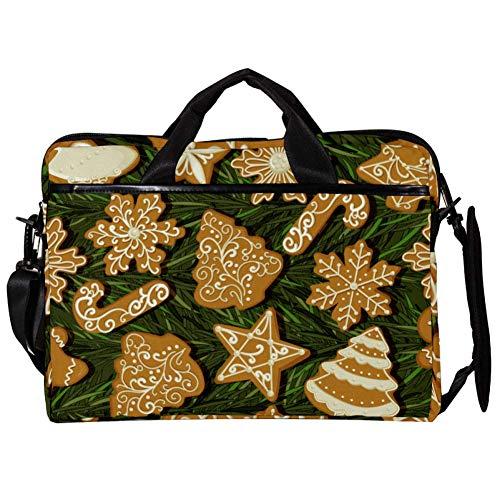 TIZORAX Laptop Messenger Borse a tracolla Biscotti al pan di zenzero Custodia per notebook Custodia per laptop Borsa da 15-15,4 pollici