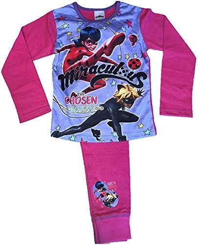 Miraculous Mädchen Marienkäfer Pyjama Alter 4 Sich 10 Jahre - Rosa, 134-140