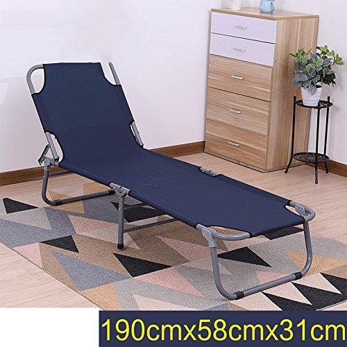 Cylficl Balcon Lit pliant extérieur Lit simple Bureau Lit-gigogne Salon d'été Chaise de pause déjeuner (Color : 5)