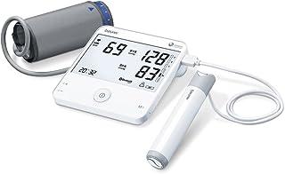 Beurer BM95 Tensiómetro de Brazo con Función ECG Bluetooth, App Cardio Expert, Gran Pantalla LCD XXL, Diseño Ultra Plano Color Blanco