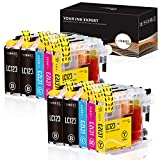 IUBEST LC123 Compatible con Brother LC-123 Cartuchos de tinta para Brother DCP-J132W J152W J172W J552DW J752DW J4110DW, MFC-J245...