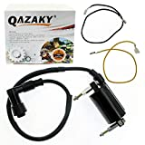 QAZAKY Ignition Coil Replacement for Kawasaki ATV KLT160 1985 / KLT200 1981-1984 / KLT250 1982-1985 / KLF300 KLF300A Bayou 300 1986-1987 / KLF300 KLF300B 1988-2004 / KLF300 KLF300C 1989-2004