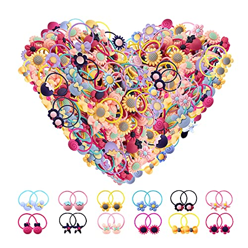 Baby Hair Ties for Toddler Girls - 100 Pcs Small Toddler Hair Ties Ponytail Holders Baby Girl Hair Accessories for Infants Kids Hair Bands