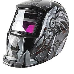 HIMFL solaires Casques de soudage Automatique Noirceur et protection des yeux Mask Shield Zone d'ombre réglable pour TIG MIG Arc Soudure Transpiration Masque
