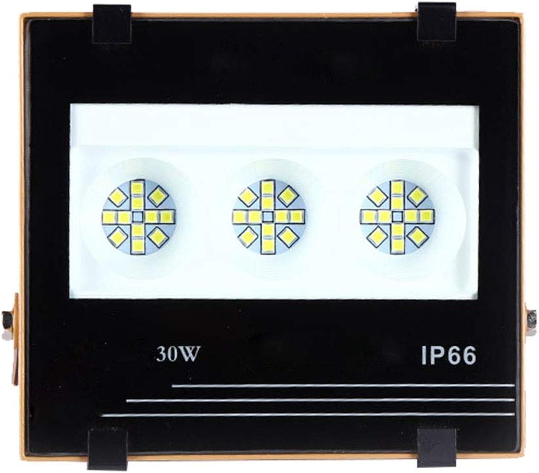 LED Flutlicht, Wasserdicht Draussen Erleuchtung Markieren 6500K IP66 Quadrat Scheinwerfer (Größe   30W)