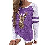OverDose Damen Damen langarm sweat shirt violett 40 us