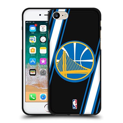 Head Case Designs Oficial NBA Rayas Golden State Warriors 2 Funda de Gel Negro Compatible con Apple iPhone 7 / iPhone 8 / iPhone SE 2020