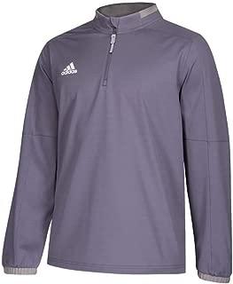 adidas Men's Adult Fielders Choice 2.0 Hot Jacket 1/4 Zip Sweatshirt Gray12RA