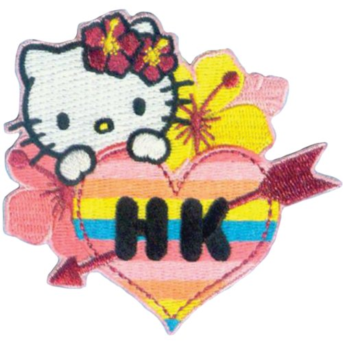 C & D visionnaire Hawaii-Patch Hello Kitty, Acrylique, Multicolore