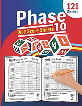 Phase 10 Dice Score Sheets  Large Score Pages for Phase 10 Dice   Phase Ten Score Pads for Scorekeeping