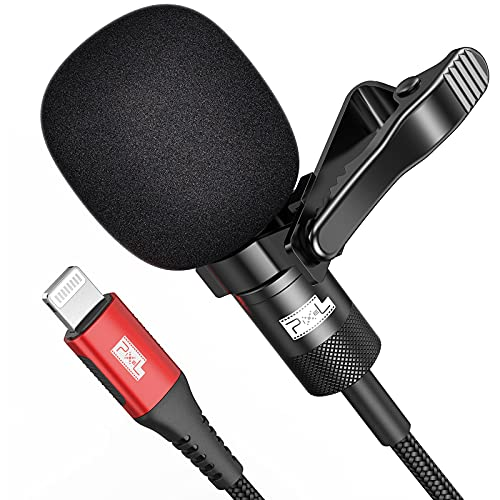 Pixel Professional Lavalier Lapel Microphone for iPhone/iPad(Apple MFi-Certified), Omnidirectional Condenser Mic for Video Recording YouTube Vlogging Facebook Interview Livestream (9.8ft)