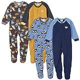 Gerber Baby Boys' 4-Pack Blanket Sleeper, Monkey Dino Toddler, 3T