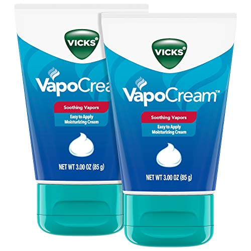 Vicks VapoCream, Soothing and Moisturizing Vapor Cream, 3 oz Tubes (2 Pack), from The Makers of VapoRub