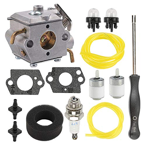Butom 753-05133 WT-827 Carburetor for MTD Troy-Bilt TB10CS TB20CS TB20DC TB310QS TB320BV TB65SS TB70FH TB70SS TB90BC MS2550SE MS2560SE WH25CS WH80BC Y780 YM20CS Gas Trimmer with Air Filter Tune Up Kit