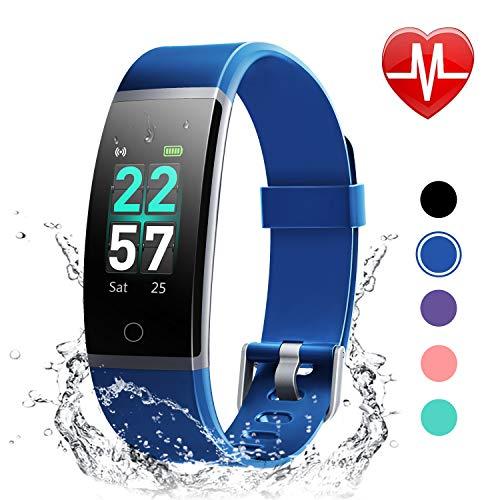 LETSCOM Unisex-Adult ID132C Fitness Tracker, Blau, M
