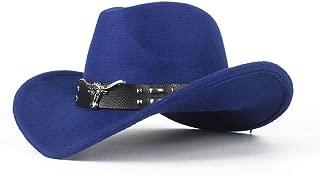 Bin Zhang Fashion Lady Cowboy Hat Comfortable Dakota Crushable Wool Felt Western Cow Head Decoration Cowboy Casual Hat