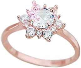 Hemlock Women Girls Snowflake Creative Ring Crystal Diamond Rings Polish Ring Ladies Jewelry for Wedding Party