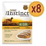 True Instinct No Grain Medium/Maxi Adult Pack de 8 Terrines Poulet aux Légumes pour Chien 300 g