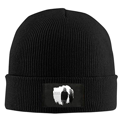 Damen Herren Robert Plant Alison Krauss Raising Sand Black Skull Knit Hats Baseball Hat Cap Beanie Kappe Mütze