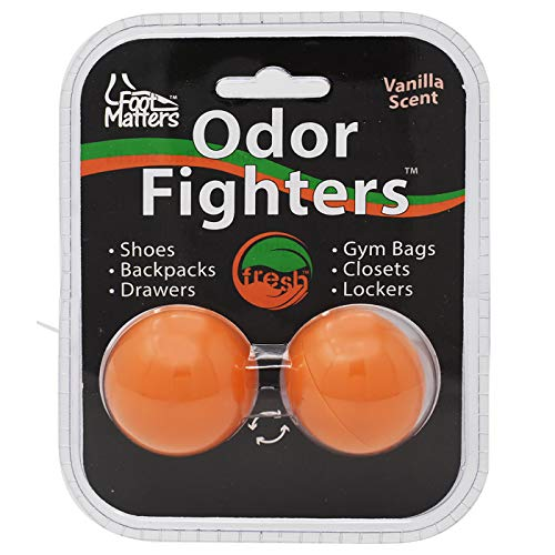 FOOTMATTERS Odor Fighters - Shoe Deodorizer Balls (Contains 4 balls) - Adjustable Vanilla Scent