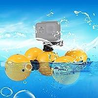 MEI1JIA QUELLIA 5 PCS安全リストストラップ&4×接続マウント&三脚アダプター&のGoPro HERO6 / 5/5セッション/ 4セッション/ 4/3 + / 3/2月1日、Xiaoyi及びその他のアクションカメラ用ロングスクリュー&レンチでダイビングフワッ浮き玉