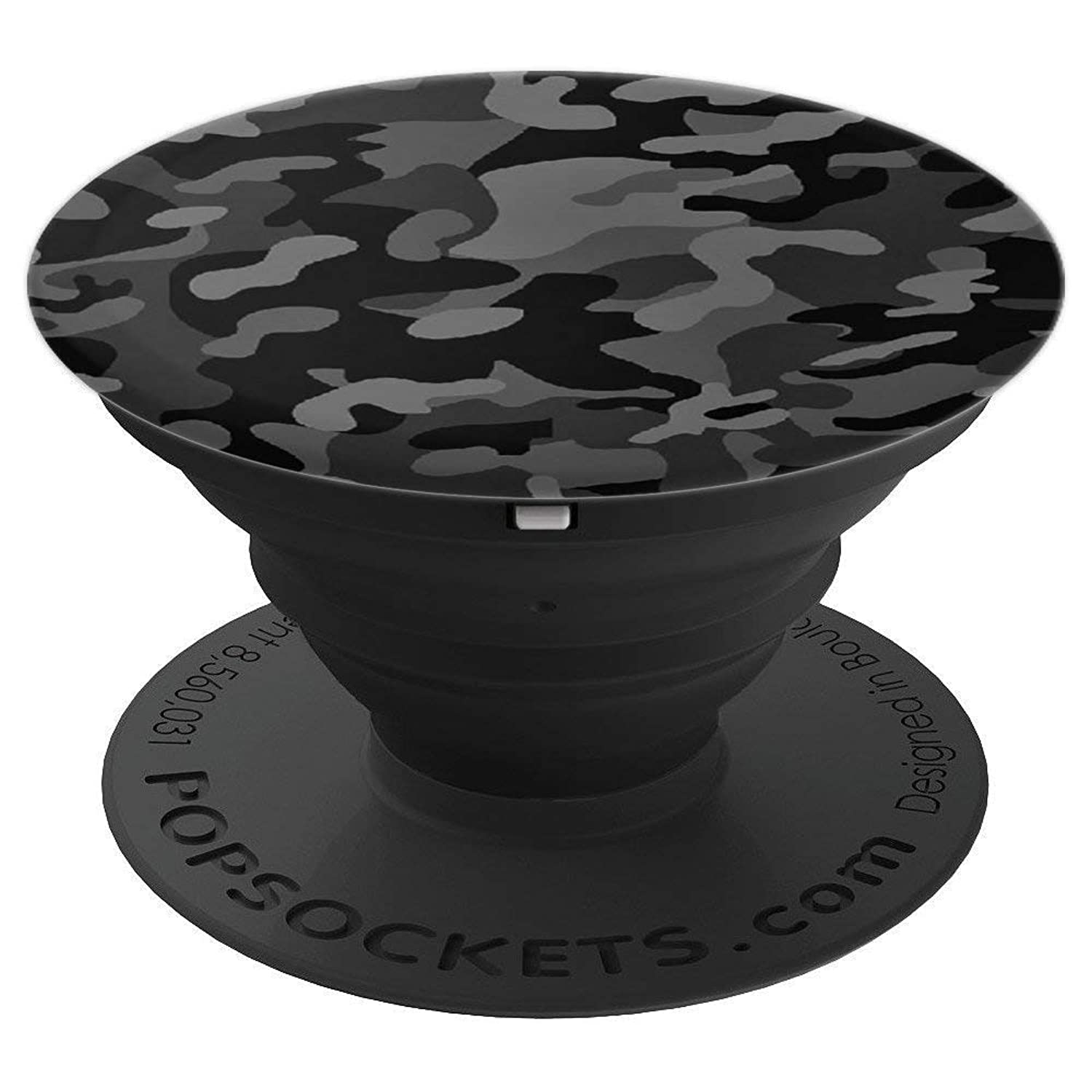 Grey Camo Grip Gray Camouflage Phone Holder Gift - PopSockets Grip and Stand for Phones and Tablets