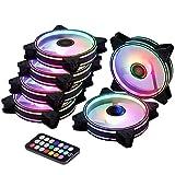 Ubanner Rainbow RGB LED 120 MM Case Fan per PC Case Raffreddatori CPU, Radiatori Sistema,L...
