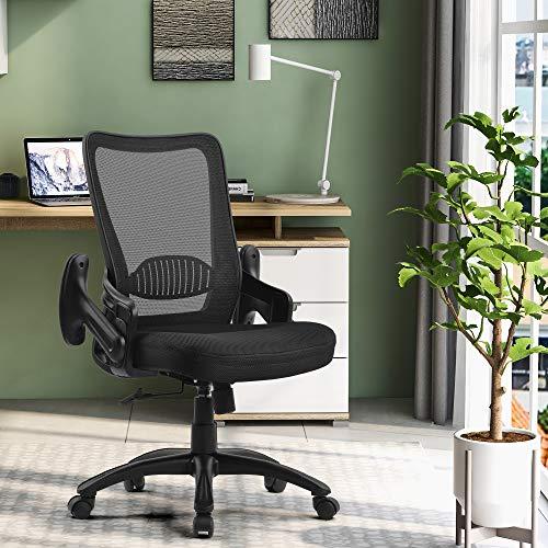 Bürostuhl Drehstuhl Ergonomischer Schreibtischstuhl mit Lendenwirbelstütze, Atmungsaktiver Netzrücken, Bürostühle mit Armlehnen und Rückenaupport, Höhenverstellbarer Computerstuhl