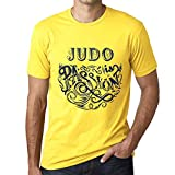 One in the City Hombre Camiseta Gráfico T-Shirt Judo Is Passion Amarillo
