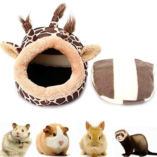 Xiton Cálida Hamster Nido Ligeros Conejillos de Indias jerarquía de la Cama Pequeño Invierno Animales de Animal doméstico Cama (Jirafa, S) 1PC