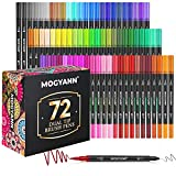 Mogyann Markers for Adult Coloring - 72 Color Dual Tip Brush Pens Coloring...