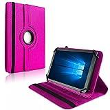 NAUC Tablet Hülle für Blaupunkt Atlantis Discovery 1001A Tasche Schutzhülle Hülle Cover, Farben:Pink
