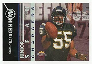 Junior Seau #379/2,000 (Football Card) 1997 Score Board Playbook - By the Numbers - Magnified Silver #8 DF