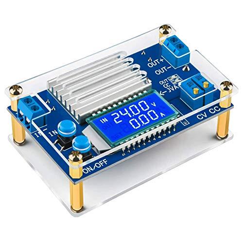 ZHITING - Regolatore di tensione regolabile, da CC a CC da 5,3 a 32 V a 1,2 V - 32 V 12 V, 12 A LCD Step Down Volt Transformer 160 W CC CV Buck Converter riduttore
