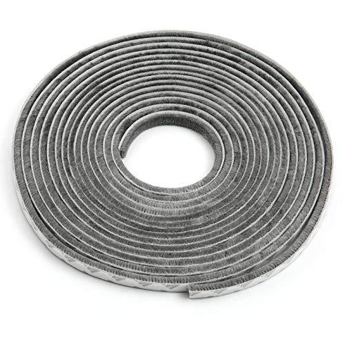 Comius Sharp burlete para Puerta, Tira de Sellado Autoadhesivo, protegerse del Viento, a Prueba de Polvo, insonorizado Amortiguador de Sonido (9 * 5MM,6M)