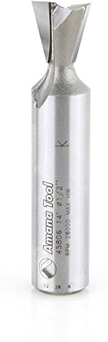 discount Amana Tool - 45806 Carbide Tipped Dovetail 14 Deg x .532 Dia x 1/2 wholesale Shank popular For Om online