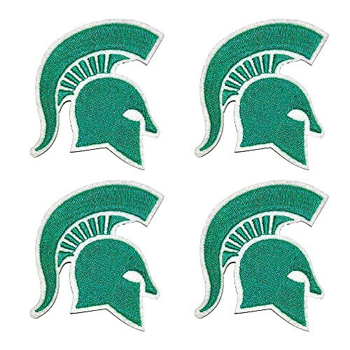4Pcs MSU Embroidered Patch Iron on Logo Vest Jacket Cap Hoodie Backpack Michigan Spartans Patch Iron On/sew on Patch