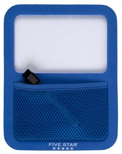 Five Star Locker Accessories, Locker Dry Erase Board with Storage Pocket, Magnetic, Cobalt Blue (72590)