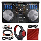 Hercules Universal DJ Bluetooth Controller + Headphones + Premium Accessory Bundle