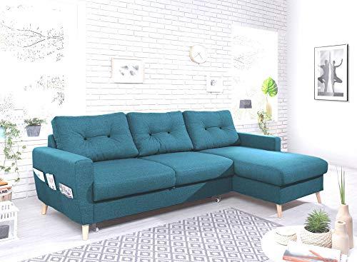 Canapé d'angle Bleu Confort