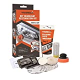 Visbella Professional Headlight Restoration Kit DIY Headlamp Brightener Car Care Repair kit Head