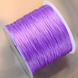 AD Beads 65 Yard Strong Stretchy Elastic String Cord Thread for DIY Bracelet Necklace (Light Purple)