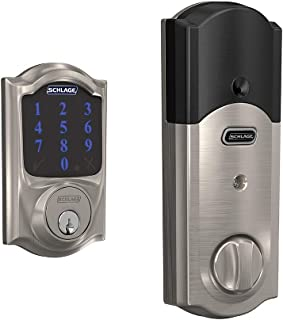 Schlage BE469ZP CAM 619 Connect Smart Deadbolt with alarm...