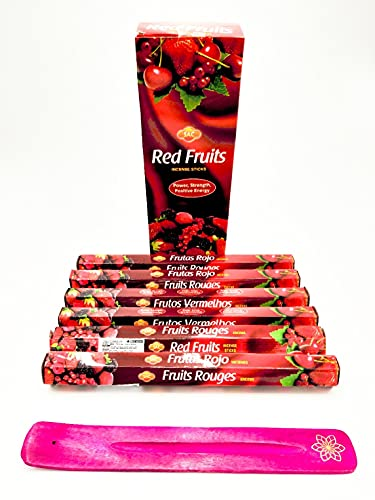 varitas de incienso de (BERRYS) frutos rojos frutos oscuros… varitas de incienso joss 120 varillas incienso de fragancia casera joss sticks con cenicero colector de cenizas