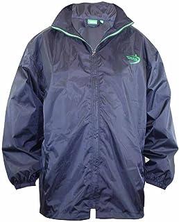 D555 Big Size Mens Rainproof Jacket Raincoat Mac Weatherproof Packaway with Bag, Navy (1XL-8XL)
