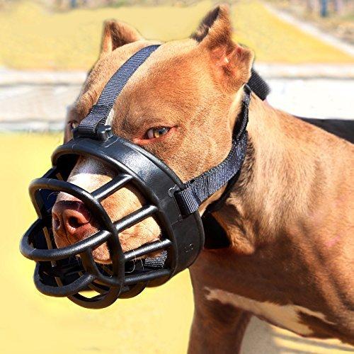 Moonpet Silicone Rubber Basket Dog Muzzle - Anti...