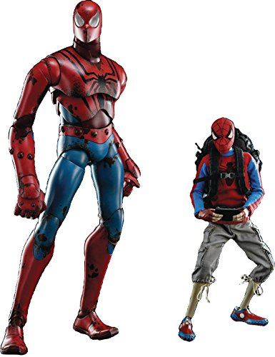 Three A Marvel X 3A Peter Parker & Spider-Man 1:6 Scale Action Figure Set image